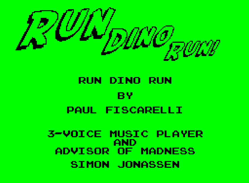 Run Dino Run by Paul Fiscarelli